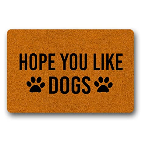 Hope You Like Dogs Doormat Dog Doormat Welcome Mat Dog Gift