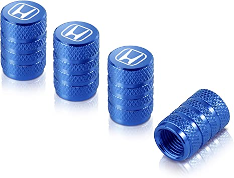 ANODISED BLUE ALLOY BIKE CYCLE DUST VALVE CAPS AIR TIGHT SEAL GET 1 FREE