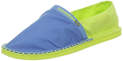 Havaianas Origine, Alpargatas para Unisex Adulto, Multicolor (Blue/Lemon Green),