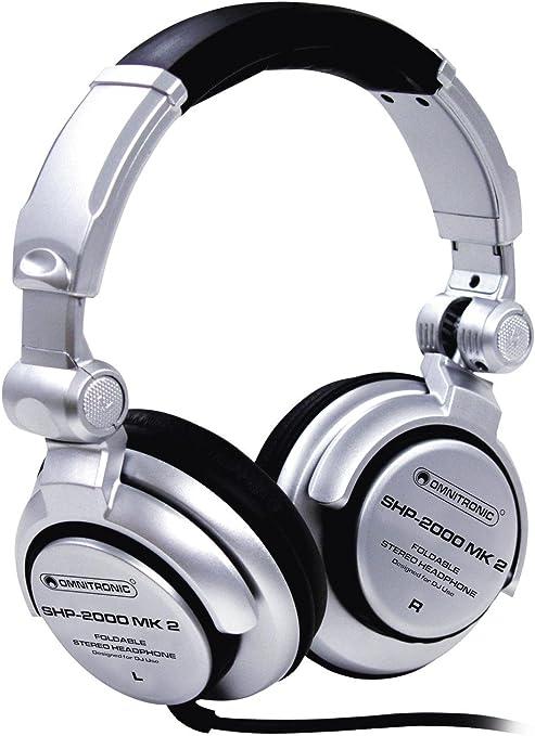 Set de 2 x Auriculares cerrados para DJ SCRETCH, dinámico, plateado - Pack de cascos / Dos auriculares para DJ -showking: Amazon.es: Hogar