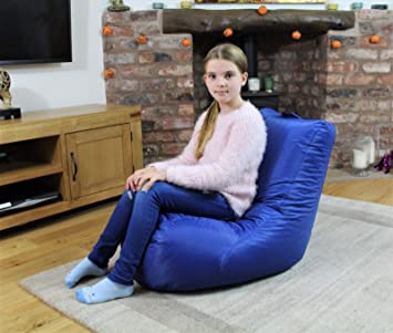 by MaxiBean Beanbag Bed Chair Blue Indoor And Outdoor Extra Large Gaming Seat XXXL Weather Resistant Waterproof