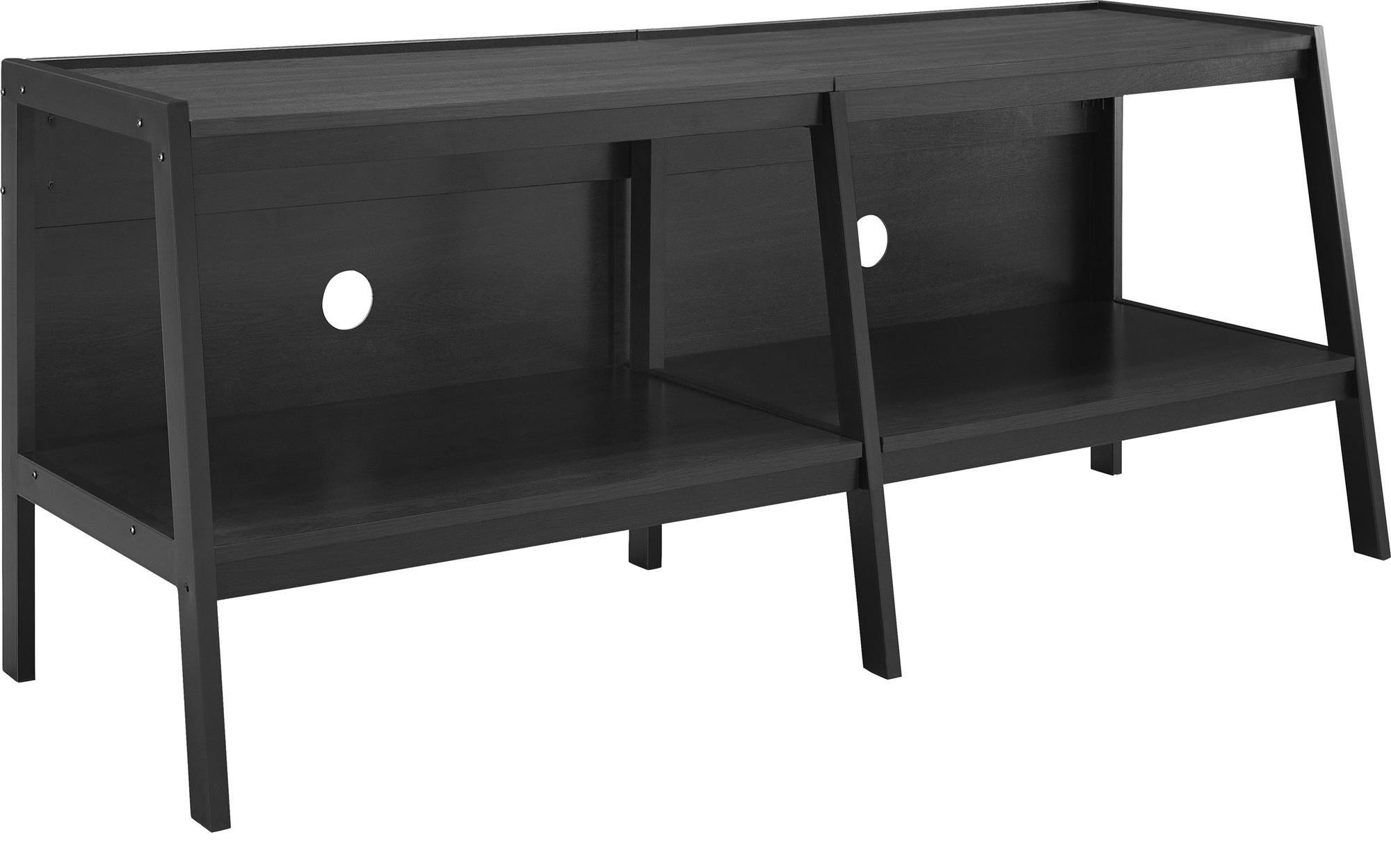 Ameriwood Home Altra Furniture Ladder Entertainment Center TV Stand, 60'', Black