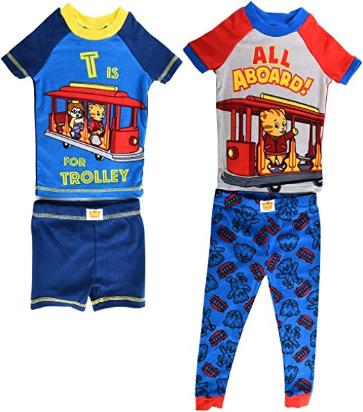 Toddler Boys Daniel Tiger 4-Piece Sleepwear Cotton Pajama Set