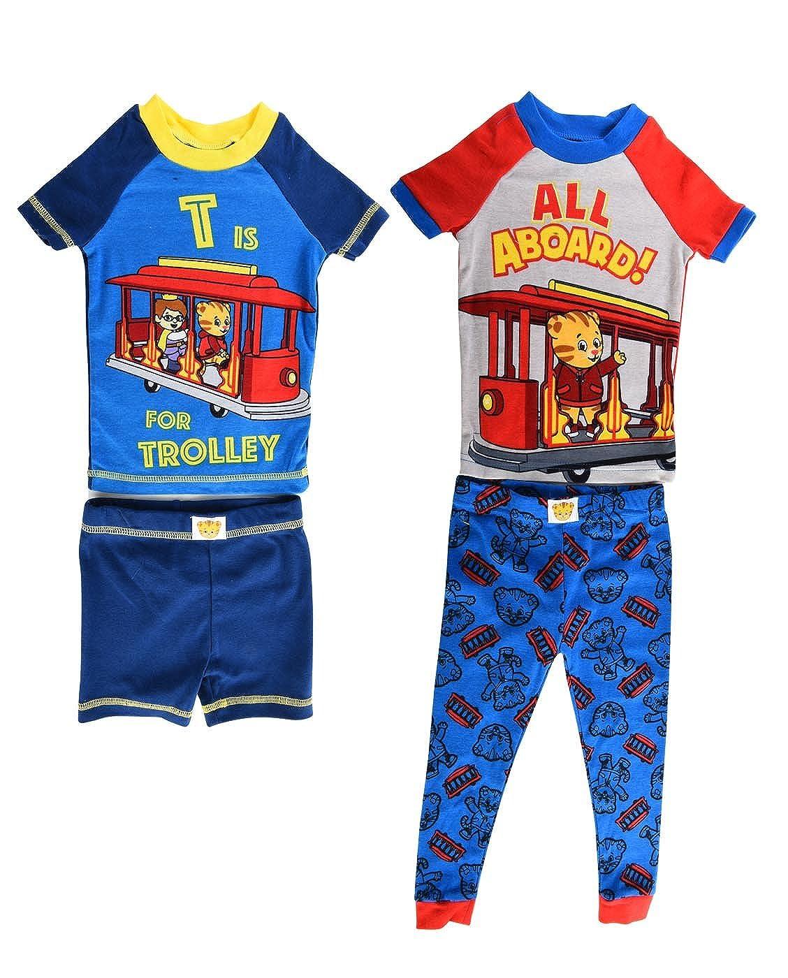 Daniel Tiger Boys All Aboard 4 Piece Cotton Pajama Set K183592DA