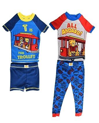 Amazon.com  Daniel Tiger Boys  All Aboard 4 Piece Cotton Pajama Set ... 7214edec7