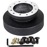 Iglobalbuy Aluminum Racing Steering Wheel Quick Release 6 Hole Hub Adapter Snap Off Hub Adapter Boss Kit
