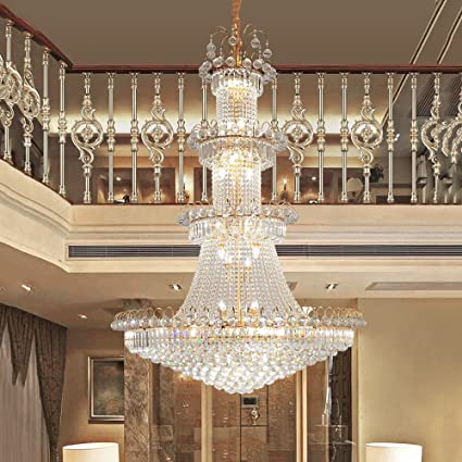 Amazon.com: European Style Stairs Large Chandelier Living ...