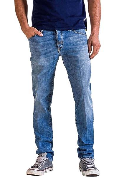 672d526f76 Meltin'Pot - Jeans Melton D0143-UK551 per Uomo, Modello Dritto, vestibilità  Normale, Vita Regular, con 5 Tasche