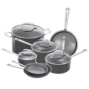 Emeril Lagasse 12 Pcs Hard-Anodized Cookware Set