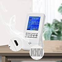 InLoveArts Medidor de calidad de aire formaldehído (HCHO) dispositivo de prueba para polvo fino PM2.5 TVOC monitor AQI…