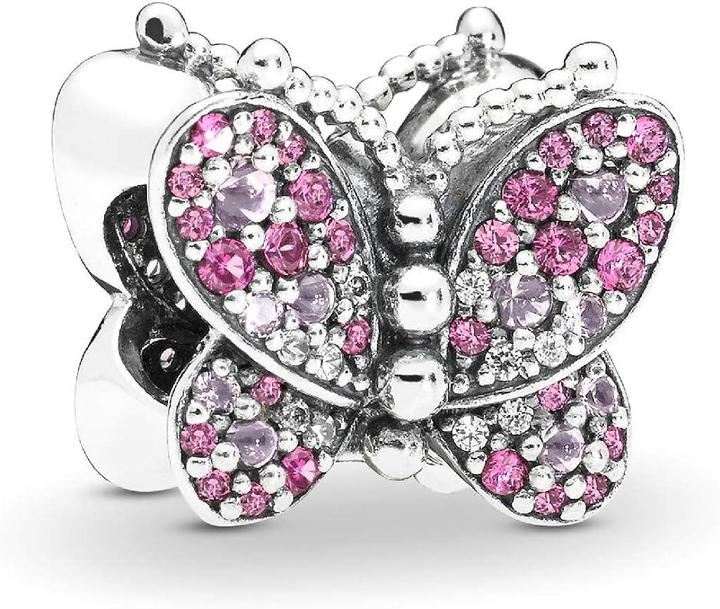 charm pandora farfalle rosa