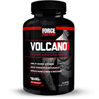 Volcano Pre-Workout Nitric Oxide Booster with Creatine, Boost Nitric Oxide, Energy, and Strength, Build Muscle, Better Pump, Force Factor, 120 Capsules
