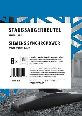 Bolsas de aspiradora Siemens Synchropower Power Edition 2400 ...