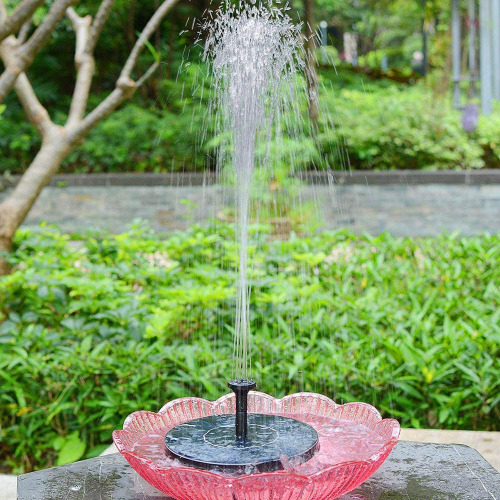 aiyvi Upgraded Solar Fountain Solar Fountain Pump With Battery Backup Solar Panel Kit Water Jet Pump