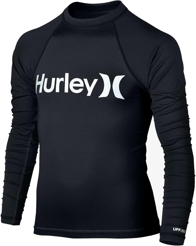 Black Hurley Big Boys One /& Only LS Rash Guard