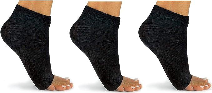 Yoga Socks in Cushy Acrylic in Candy Stripes for Yoga Pilates Dance Pedicures