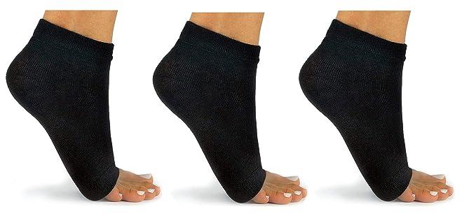 Amazon.com: Calcetines sin dedos muy cómodos, 3 pares ...