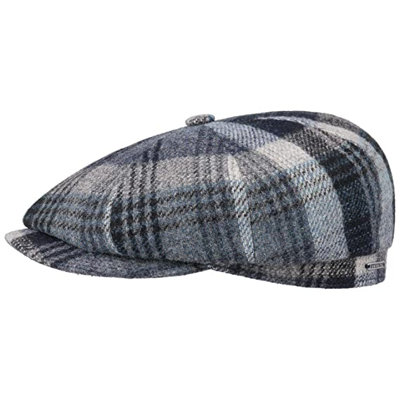 7b0f4cacf58 Stetson Hatteras Woolrich Classic Flat Cap Wool Ivy hat  Amazon.co ...