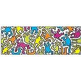 Artopweb Pannelli Decorativi Haring Untitled 1983 Quadro, Legno, Multicolore, 95x1.8x33 cm