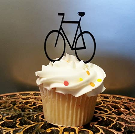 Decoración para cupcakes de bicicleta, decoración para tarta de cumpleaños, bicicleta, baby shower, decoración para tarta de boda, cupcakes, cumpleaños, ciclis, etc.: Amazon.es: Hogar