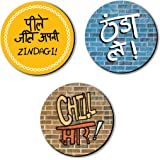 Artangle Fiberboard Quirky/Humorous/Funny Magnets (Set of 3)