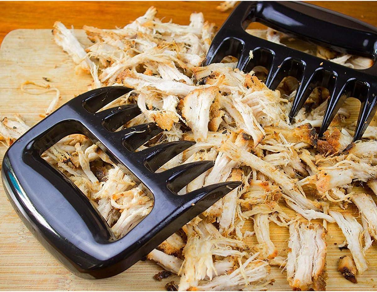clubevy Meat Claws BBQ Tools Paws Shredder Claws Easy Washable Dishwasher Safe Bear Claws Meat Shredder