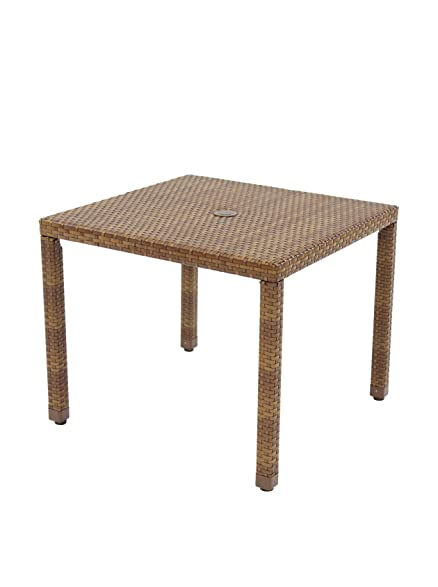 Panama Jack Outdoor St. Barths Square Dining Table, 36 Inch