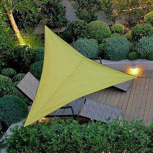 Bluelliant Toldo a Vela Exterior Triangular Camping De Playa Horizontal Impermeable Jardín Sombra Universal Terraza, Verde: Amazon.es: Jardín
