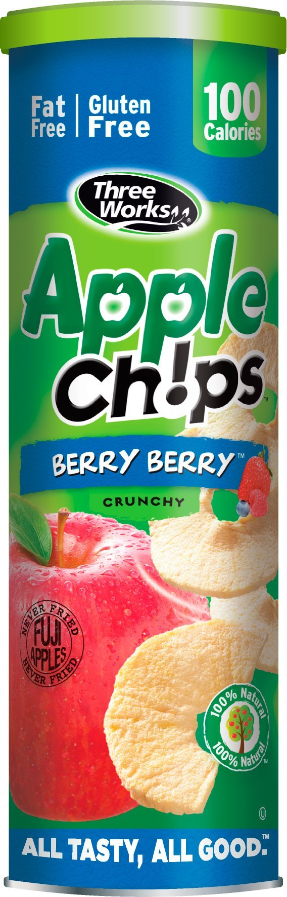 ThreeWorks Apple Chips, Berry Berry, 1.76 Ounce (Pack of 12)
