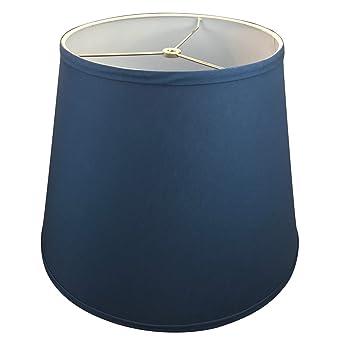 FenchelShades.com Lamp Shade 11x17x13 Navy Blue Linen Fabric