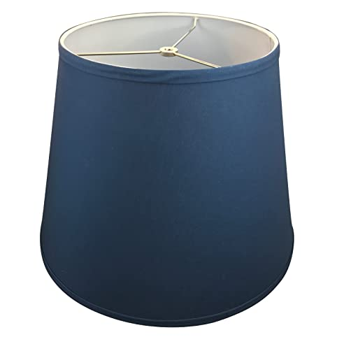 FenchelShades.com Lamp Shade 11x17x13 Navy Blue Linen Fabric ...