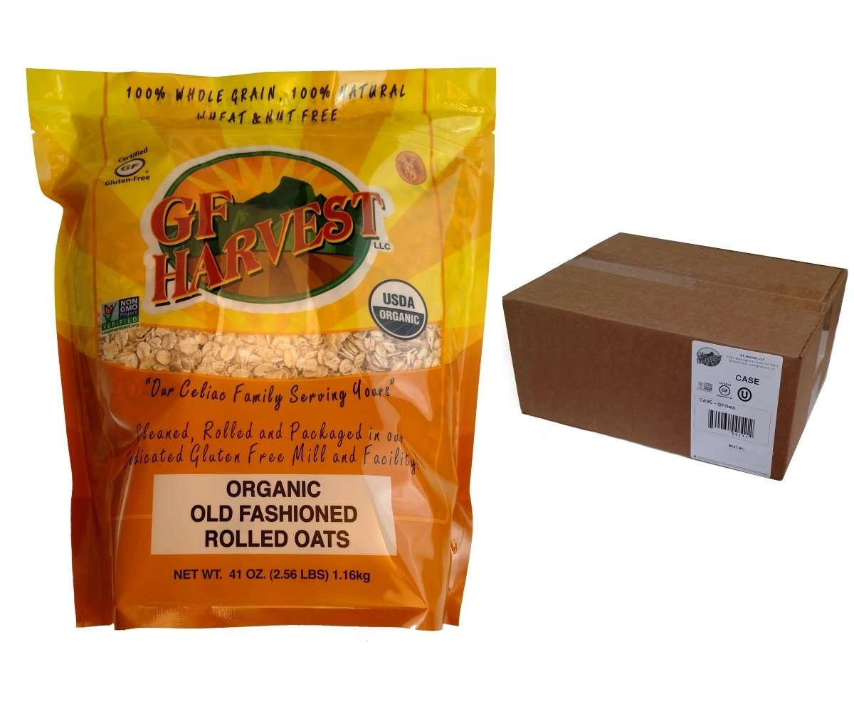 GF Harvest Gluten Free Organic Rolled Oats, 41 oz. Bag, 12 Count by GF Harvest