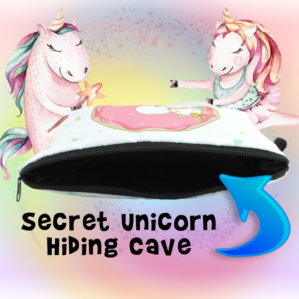 Unicorn Gifts For Girls - Unicorns That Little Girls Will LOVE! - You Get 2 Best Friend Necklaces + Unicorn Squishy + Cool Unicorn Buttons & Zippered Unicorn Cases! - PLUS Gift Packaging Is INCLUDED! by Fine Line Living (Image #7)