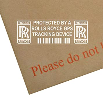 675a5a57a8 Platinum Place 5 x PPROLLSROYCEGPS GPS Tracking Device Security WINDOW  Stickers 87x30mm-Car