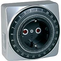 UNITEC 44023 Silver-Line dag-timer, mechanisch, voor gebruik binnenshuis, aantrekkelijke vierkante vorm, analoog, zilver…
