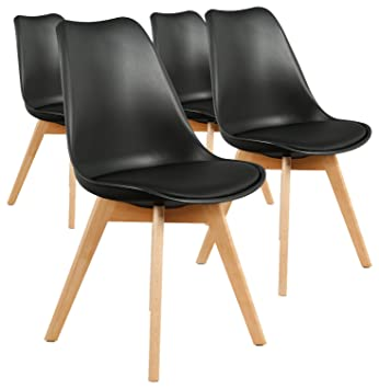 NoirPolypropylène Bovary Lot Style Menzzo Chaises 4 De Scandinave WEHID92Y