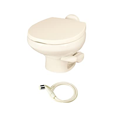 Aqua Magic Style II RV Toilet with Water Saver / Low Profile / Bone - Thetford 42065: Automotive [5Bkhe1508700]