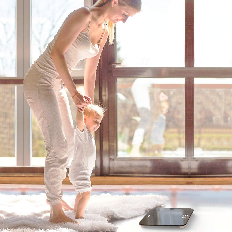 balance pour le corps ultra-mince avec capteurs de haute pr/écision balance pour le pesage avec technologie de pointe noir Balance personnelle num/érique