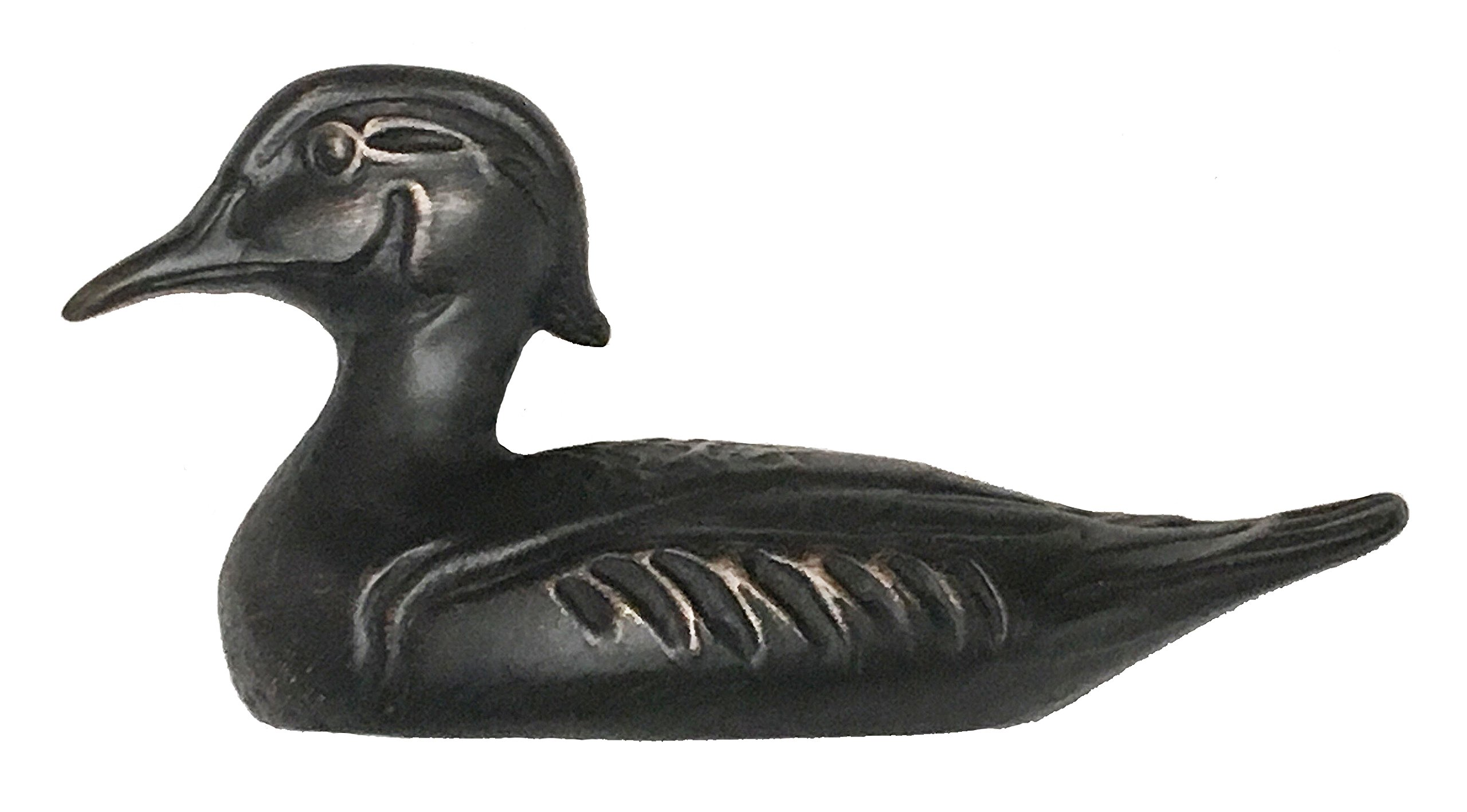 D'Artefax DHP93-Orb Duck Decoy Pull (Left Facing) Decorative Cabinets, Oil Rub Bronze