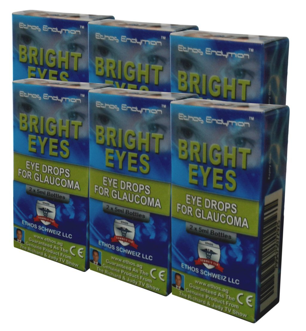 Carnosine Eye Drops 6-Pack (12 x 5ml Bottles) - Ethos Bright Eyes™ NAC Eye Drops (Safe for Glaucoma Sufferers) - NAC n acetyl carnosine eye drops