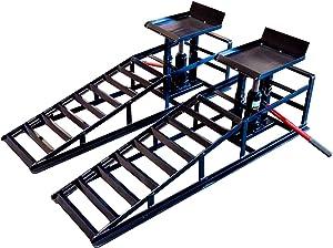 Portable Vehicle Ramps Hydraulic Car Repair Auto Truck Tools Heavy Duty 4,400lb Capacity