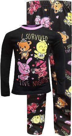Five Nights at Freddys Boys Girls 5 Nights Pajama Set Freddy Cast Shirt and Pants