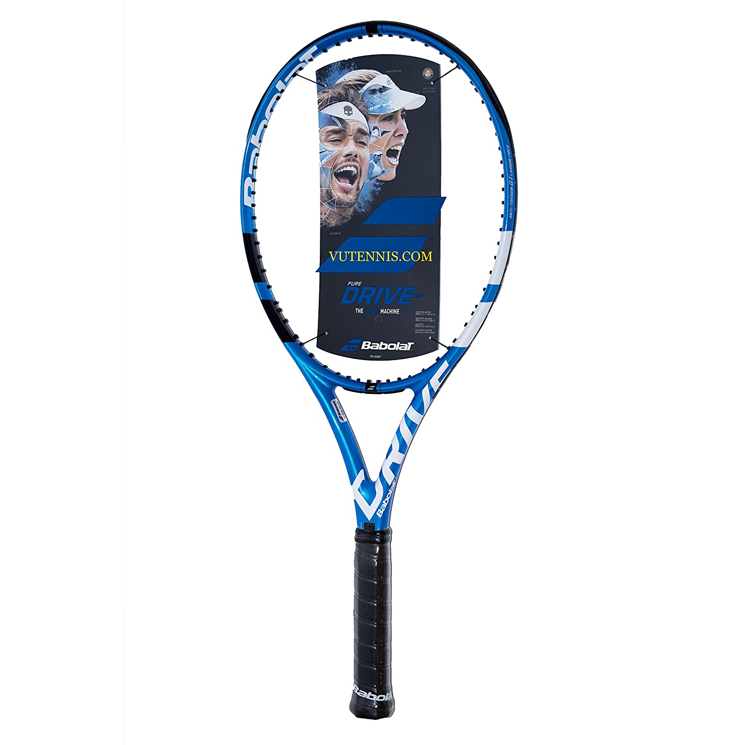 Amazon.com : [VUTENNISCOM] Babolat Pure Drive 107 Tennis Racquet - Customize String : Sports & Outdoors