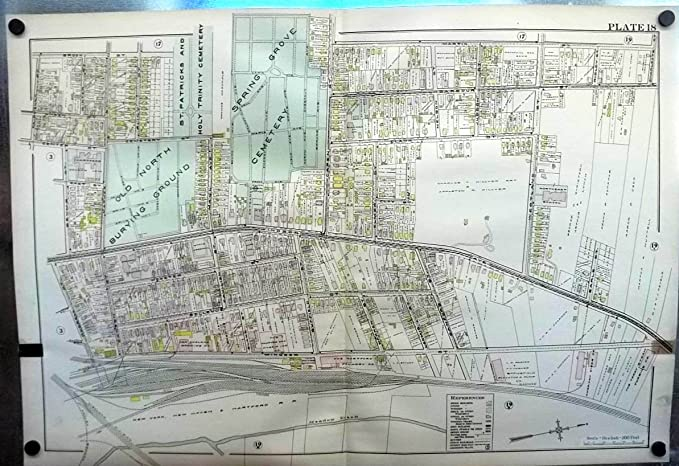 1909 Hartford CT Map: New England Brewery; Terry Steam Turbine ...