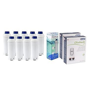 QUVIDO – 9 x Filtro de agua Delta para antical cafeteras + 2 x Delonghi dlsc200