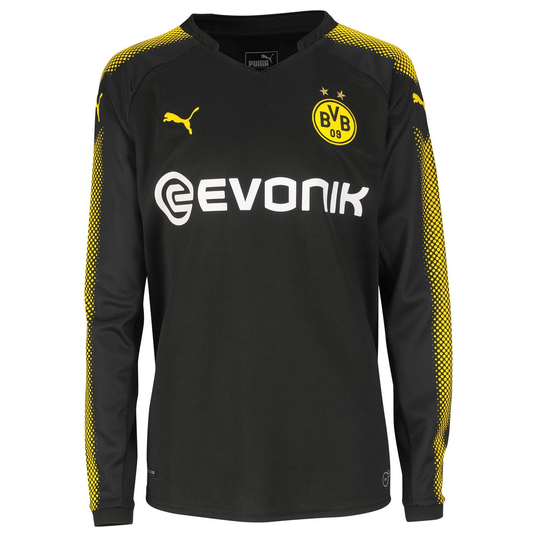 Puma BVB Away LS Shirt Promo Black-Cyber Yellow