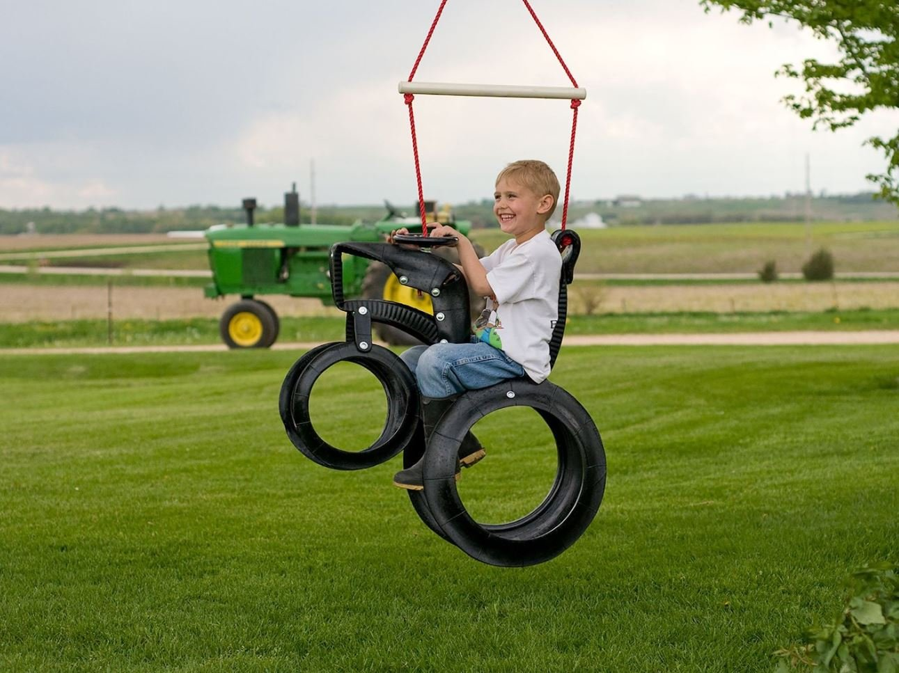 Tractor Recycled Tire Tree Swing M&M Sales Enterprises Inc MM00108