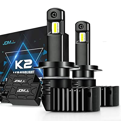 JDM ASTAR K2 High Performance 1:1 Design H7 Bright White Light Output Upgrade Vision LED Headlight Bulbs: Automotive