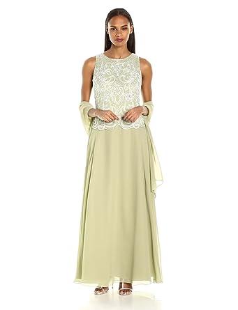 White long beaded dress