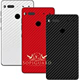 SopiGuard Essential Phone PH1 Carbon Fiber Rear Panel Precision Edge-to-Edge Coverage Easy-to-Apply Vinyl Skins (3 x Black Red White)
